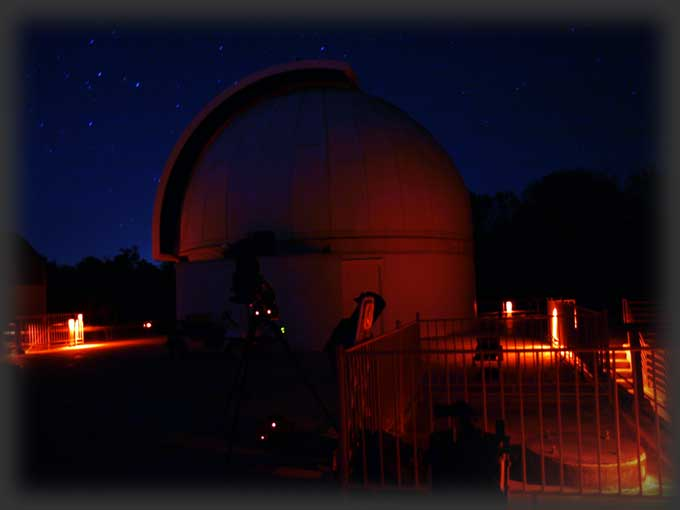 George Observatory at night