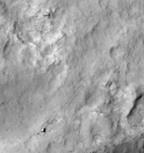 Mars Rover Curiosity Spotted from Space